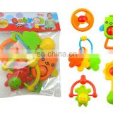 5 Pieces Infant Baby Play Set Non-toxic Rattle Teething Ring