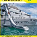 Commercial giant inflatable yacht floating water slide for adult