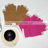 finger touch screen glove for smartphone 2014 fashion in stock cell phone gloves