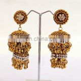 Wholesale Bollywood Style Antique Gold Plated Jhumka Earring-Metal Jhumka Earring-Fashion wear Jhumkas 2015