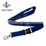 fashional design satin lanyard with custom