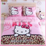 ready goods environmental protection king size baby 3d cat print kids sheets bedding set