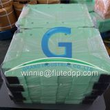 Die-cutting of PP corrugated plastic sheet