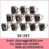 Belly Shape 12oz Wholesale Mugs with Zodiac Design for Elegant Porcelain Coffee Mugs