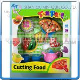MINI QUTE Pretend Preschool Tea Cutting food fruit Vegetable kitchen play house set learning educational toy NO.ZQ133946