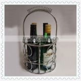 chrome plated iron wire decorative wine bottle holders