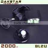 DAKSTAR 2013 New Hot Sale BL2U CREE XML2 2000LM Good Quatity Super Bright Aluminum Rechargeable LED Bike Wheel Llight