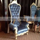 Popular king throne chair of hotel room high back furniture