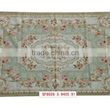 superior New Zealand wool hand craft french aubusson rug