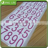 Printed number stickers,colour printing adhesive serial number label
