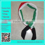 New design Kuwait country flag cloth rabbit animal ear headband with company logo