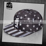 Guangzhou guangjia custom unisex 3D embroidered and image pattern 100% polyester cheap hats