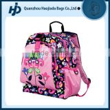 Beautiful satin and water resistant flower school bag