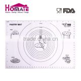 Customize OEM logo non-stick silpat silicone baking mat with fiberglass silicone glassfiler mat