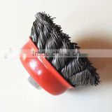 China supplier alibab drill wire brushes wholesale deburring twist knot steel wire cup brush