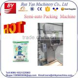 Shanghai Manufacture semi-automatic granule packing machine,1kg 5kg semi rice packing machine