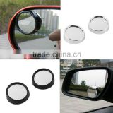 JXZ-008 2pcs/SET universal Driver 2 Side Wide Angle Wideangle Sticker Round Convex Car Vehicle Mirror Blind Spot Auto RearView f