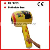 Phthalate free pvc kids inflatable hammers plastic hammers with cartoon printing