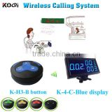 restaurant wireless table buzzer system with led display receiver and rechargeable battery for customer