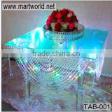 Acrylic table with LED Light,crystal acrylic table for wedding cake stands,acrylic wedding table decoration (TAB-001)                                                                         Quality Choice