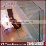 New design double plates stainless steel glass balustrade staircase double plate balcony stainless steel glass railing