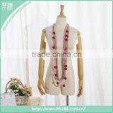 Wooden Beaded Cotton Crochet Jersey Scarf