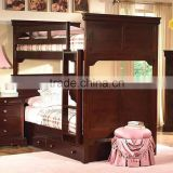 Versailles Twin/ americna style Twin Bunk Bed (n/a with storage) AS-B17