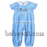 Cute Christmas hand smocked long bubble for baby boy