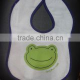 cotton infants & toddlers&children baby bibs customized logo available embroidered frog