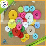 fancy plastic buttons for childrens clothing round resin button printing polyester resin button