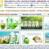 ORGANIC TETRA BOX 330ML 1000ML COCONUT WATER UHT ALL FLAVOUR TIDA KIM - BLACK PEPPER - VIETNAM CASHEW NUTS- DESICCATED COCONUT