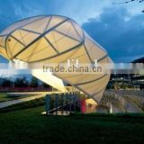 Architectural membrane (composite of fiberglass and PTFE) for Cable-membrane roof stadium tent