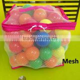 100pcs Wholesale Ocean Plastic Soft Play Balls With Mesh Bag For Kids