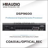 with Professional PC software control ktv processor DSP9600