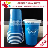 Promotional Custom Logo Imprint Double Wall Plastic Measuring Cup Red Blue Black Coffee Solo Cup 16oz                                                                         Quality Choice