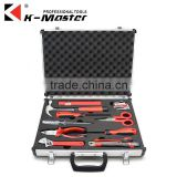 K-Mastet factory direct sales 10 pcs high quality household hand tool set aluminum alloy tool box