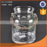 crystal glass candle jars rope hanging logo printing home & garden