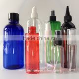 Colorful 100ml PET plastic spray bottle,100ml 50ml cosmetic PET bottle with mist sprayer for body spray or room freshener                                                                         Quality Choice
