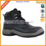 High heel steel toe safety shoes pu injection safety shoes