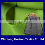 100% polyester 4 ways streach pongee fabric with TPU bonded with polar fleece for hardshell