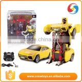 JIAQI 2.4G RC transformation robot car toy child gift                                                                         Quality Choice