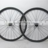 Hot sale carbon mtb bike wheels 29er 30*30mm carbon rims with 28H/28H, OEM carbon mountain bicycle wheels