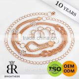 Fashion clothes chains of metal belt jeans chain Brightness F1-80117
