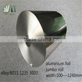 alloy 8011 3003 1235 large roll type used for air conditioner container adhesive tape aluminium foil jumbo roll