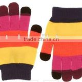 2015 Touch Go Knit Gloves Clockwork Color Block Stripe Mittens