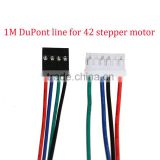 1M DuPont line 4pin two-phase four-lead motor connector cables for 3D printer 42 stepper motor