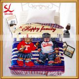 New Baby Boy Girl Soft Velour Blanket 150x200CM Micro Plush Fleece Cartoon Blanket