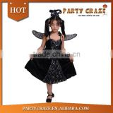 Halloween black angel kids costumes