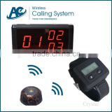 2015 Crazy Selling fast food hotel coffee shop casino restaurant wireless service desk server calling system