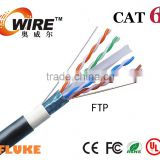 Fire Resistant Cat6 Cable FTP Armoured Cat 6 LAN Cable